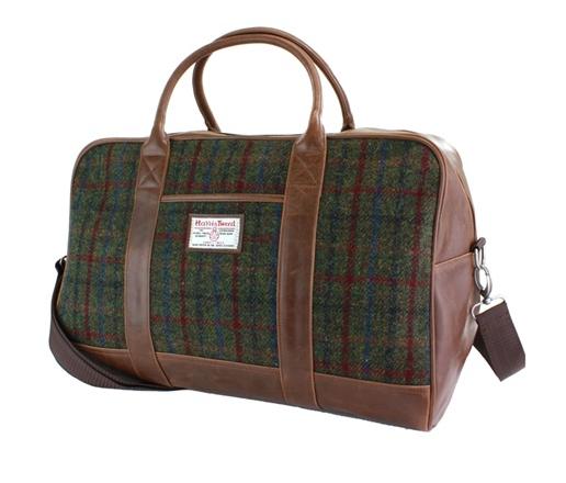 Mens-Tweed-Holdall-British-Bag-Company